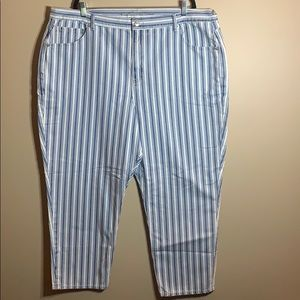 American Eagle size 24 striped mom jeans